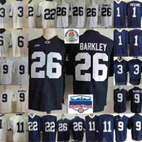 penn state nittany lions venda por atacado-NCAA Penn State Nittany Leões Saquon Barkley Traço McSorley Marcus Allen Micah Parsons Akeel Lynch Joe Paterno Colégio Camisas De Futebol