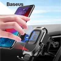 Wholesale Baseus Intelligent Sensor Car Phone Holder for iPhone XS XR Fast QI Wireless Charger Air Vent Mount Mobile Phone Holder Stand