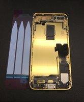 iphone habitação ouro 24k venda por atacado-Top de Luxo 24 k Banhado A Ouro de Ouro Moldura De Metal Habitação com peças de montagem completa para o iphone 7 Plus Moldura Do Meio Cobertura completa da bateria tampa