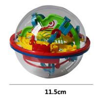 akıl oyunu toptan satış-Sıcak 100 Bariyerler Komik 3D Bulmaca Labirent Top Labirent büyülü akıl topu Uzay Akıl yörünge parça Oyun Aşamaları Çocuklar Oyuncak Hediye 6 adet
