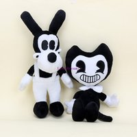Wholesale toy phones for babies - New Sale 2pcs Set Bendy and the ink machine The Bendy+ Boris (no phone sucks) Plush Doll Toys For Kids Christmas Gifts Baby Boris