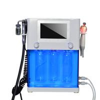 Wholesale hydro peel microdermabrasion - 4 in 1 Hydrafacial Microdermabrasion RF Bio-lifting Spa Facial Machine Aqua Facial cleaning Hydro Peel Machine water Peeling Dermabrasion