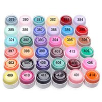 potes de gel de unhas uv venda por atacado-2018 Cores Puras Gel Unha Polonês UV Nail Art DIY Decoração para Manicure 36 Potes cor