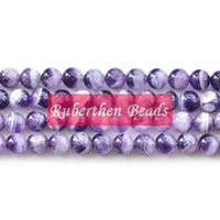 Wholesale NB0058 High Quantity Purple Crystal Natural Stone Dream Amethyst Loose Beads Stone Round Bead Best Jewelry Making Accessory