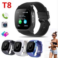 t8 uhr großhandel-T8 Bluetooth Smart Schrittzähler Uhren Unterstützung SIM TF Karte Mit Kamera Sync Anruf Nachricht Männer Frauen Smartwatch Uhr