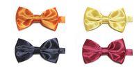 pajarita de oro morado al por mayor-La corbata de lazo 50pcs / lot 36colors de los hombres de la manera de HOTSELLING se mezcló para el envío libre de la opción