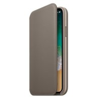 tapa abatible dormir al por mayor-Para iPhone X Wallet Folio Funda de la PU Flip Cover Auto Stand By y Sleep Package Retail Package