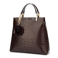 ingrosso borse borse alligatore-Borsette da donna in pelle verniciata Borsa da donna in pelle di design alligatore Borse a tracolla da donna Borsa a spalla da donna