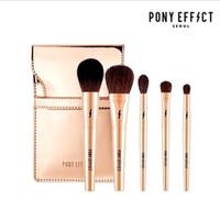 Wholesale designer tools online - Brand PONY EFFECT Makeup Brushes Professional Gold Makeup Brushes SET KIT with Bag Designer Eyeshadow Powder Brush Beauty Tools