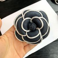 broches de pano venda por atacado-i-remiel coreano high-grade flor broche pano arte clássico camellia broche pinos broches mulheres xale colarinho acessórios