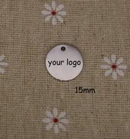 discos laser venda por atacado-Tag feito sob encomenda da jóia, Tag personalizado do aço inoxidável do metal com o laser do logotipo gravado em etiquetas redondas do disco 3 cores disponíveis