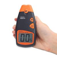 medidores de humedad para paredes al por mayor-Medidor de humedad de madera digital con pantalla LCD Dos pines Probador de humedad Detector de humedad de madera Medidor de humedad Probador de prueba MD814