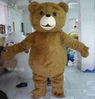 mascotes de urso adulto venda por atacado-Alta qualidade hot Teddy Bear Mascot Costume Fancy Dress transporte rápido tamanho adulto