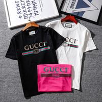 yeni marka stilleri gömlek oğlan toptan satış-Yeni GC marka BB MODU Mektup baskılı casual o-boyun T-Shirt basit ve Moda Kısa Kollu saf Pamuk Tshirt en Tees hip-hop tarzı gömlek