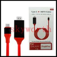 mhl hdmi hdtv adapter оптовых-Тип C MHL USB 3.1 к типу C кабеля переходники 4K HDMI 1080p HDTV C к HDMI с розницей