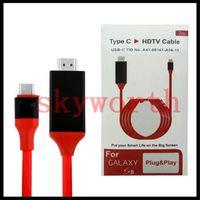 usb mhl venda por atacado-USB 3.1 tipo C MHL ao tipo C do cabo do adaptador de HDTV 1080p HDTV a HDMI com varejo