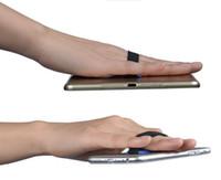 büyük cep telefonları toptan satış-Cep Telefonu IPAD Tutucu Büyük Cep Telefonu Askısı Parmak Yüzük Bandaj Cep Telefonu Dirseği Tek Elle Operasyon Geri Ekli Plaka Suppo