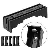 li pin al por mayor-5 Unids / set caja de almacenamiento ABS ABS 2-Pin Holder Case para 1x Li-ion 18650 3.7V batería