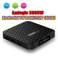 caixa do berço venda por atacado-Fábrica OEM ODM M9S MAX TV Boxes 2 gb 16 gb Amlogic S905W Android7.1 Sistema de Design de Berço Quádruplo Quad Core