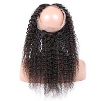 Wholesale human hair lace wigs unprocessed online - Premier Lace Wigs Pre Plucked Lace Frontal Closure Unprocessed Human Hair With Full Frontal Lace Band Closure Deep Body Wave