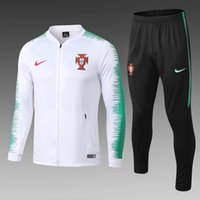 Wholesale training c resale online - Thailand Quality new18 national team sportwear C Ronaldo jacket suit home away tracksuits soccer jersey training suit