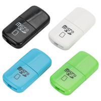 Wholesale 2gb memory card reader resale online - High Speed Mini USB Micro SD card T Flash TF M2 TFcard mobile phone Memory Card Reader adapter for gb gb gb gb gb gb TF Card