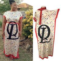 ingrosso pipistrello in cotone-nuovo africano 100% cotone stampa pipistrelli elastici manica lunga stile dashiki abiti lunghi