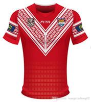 taza de prueba al por mayor-TONGA RUGBY LEAGUE COPA DEL MUNDO JERSEY 18 Nueva Zelanda TONGA camisetas de rugby TONGA RUGBY LIGA 2018 PACIFIC TEST JERSEY tamaño S-3XL