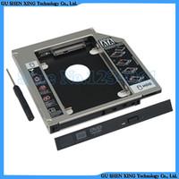dizüstü bilgisayar sabit diskleri toptan satış-Toptan-Yeni evrensel SATA 2nd HDD SSD Sabit disk sürücü Caddy Adaptörü Asus N55E N55S N55SF Laptop için Bay