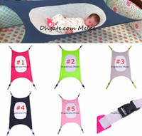 Wholesale Newborn Hammock - INS Folding Baby Crib Portable Beds Baby Folding Cot Bed Travel Playpen Hammock Holder Crib Baby Newborn Photography Tools 5colors 104*76cm