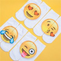 ingrosso calzini stranieri-Calzini personali Stampato Calze Emoji Cartone animato Espresso Imballaggio Commercio estero Scoppio Caldo Trasferimento Moda Popolare Factory Direct 2 1ds dd