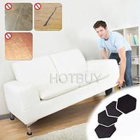 Wholesale furniture protectors - 4Pcs Furniture Moving Sliders Pads Moving Furniture Gliders Hardwood Floor Protectors Carpet Flooring Coaster Furniture Protector #4499