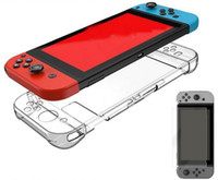 Wholesale Switch Back - Clear Hard Back Cover Case For Nintendo Switch Case Crystal And Tempered Glass for Nintendo Switch top quality