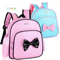 Wholesale package books - New kids children girls princess schoolbag book bags backpack rucksack package cool baby waterproof PU bag