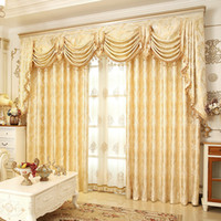 Wholesale building decor resale online - Golden Royal Luxury Curtain Polyester Fiber Window Yarn Durable Elegant Drapes Popular Sheer Curtains For Living Room Decor lg jj