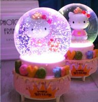 Music Box Rotary Snow Crystal Ball To Send Girls Valen Tines Day Childrens Birthday Gift