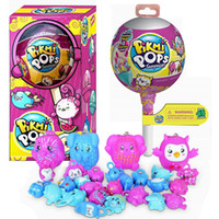 Wholesale Interactive Cartoons - Pikmi Pops 4 INCH Surprise Lollipops Unwrap Scented Color Changing Glittering Ball with Ramdon Plastic Figures Pikmi Pops Toy For Kids.