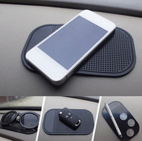 siyah büyü telefonu toptan satış-Araba Kaymaz Pano Yapışkan Ped PU Sihirli kaymaz Mat GPS Cep Telefonu Tutucu Siyah Faydalı Ev aracı AAA185