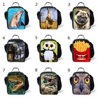 ingrosso scatole di stoccaggio animale-40 Style Kids 3D Animal Dinosaur TY Lunch Box Bag Divertente Zaino per Adolescenti Studenti Borsa da viaggio Borse da gioco unisex B