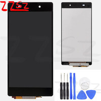 Wholesale touch sony z2 resale online - Original Brand New for Sony Z2 LCD Display Touch Screen Digitizer Assembly Black White