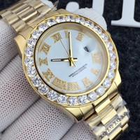 Wholesale complete machine - Top luxury brand men's gold diamond calendar watch 228348 316 gold stainless steel bracelet automatic machine sapphire mirror 41 mm new arri
