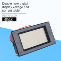 Wholesale panel amp meters online - Double Row Digital Dispay Voltage and Current Table of AC V A Blue Lcd Dual Panel Volt Amp Combo Meter CT v v v