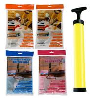 Wholesale travelling vacuum bags for sale - Group buy Large Space Saver Compressed Bag Vacuum Seal Compressed Bag Travel Clothes Quilt Compression Storage Organizer Package Bag