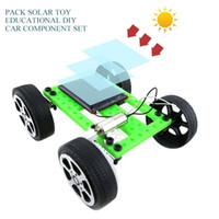 Wholesale diy solar car kit resale online - Mini Handmade Solar Powered Toy Children Educational Gadget Hobby DIY Car Kit improve children s abilities of creativity and practice