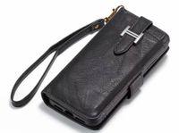 caso do iphone do cartão de visita venda por atacado-Caso de couro de luxo para iphone xs xr 8 7 plus case flip cartão carteira capa ímã de negócios telefone case