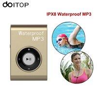 Wholesale Mp3 Ipx8 4gb - DOITOP Waterproof IPX8 MP3 Music Player Mini Sports Swimming Clip MP3 Walkman 8GB 4GB Hifi Music Player Support FM Radio