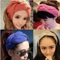 Wholesale Fashion Wide Head Hoop Women Luxury Designer Knitting Hairband Winter Classical Hair Belt High Grade yh Ww