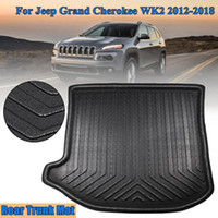 ingrosso boot trays-New Tray Liner Cargo Posteriore Trunk Car styling Accessori interni Tappetino Impermeabile Tappetino per Jeep Grand Cherokee WK2 2012-2018