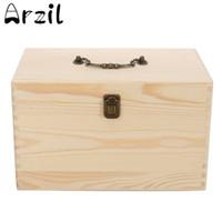 Wholesale Jewelry Treasure Box - Oil Bottles Aromatherapy Container Carry Jewelry Wooden Essential Organizer Storage Box Metal Lock Jewelry Treasure Box Case