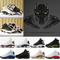 Wholesale jump sale - 2018 hot sale 13 flints man basketball shoes high quality 13 black trainers fashion sport sneakers grey size jump free shipping